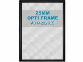 Klikkader Opti - 25 mm - A3 - zwart