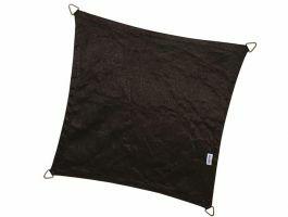 Coolfit - schaduwzeil - vierkant 5x5 m - zwart